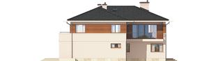 Projekt domu Nati G2 (z piwnicą) - elewacja tylna