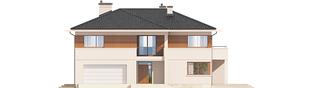 Projekt domu Nati G2 (z piwnicą) - elewacja frontowa