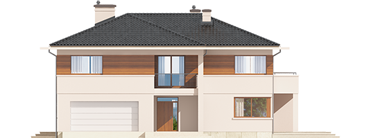 Nati G2 - Projekt domu Nati G2 - elewacja frontowa