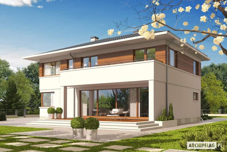Projekt domu Nati G2 - wizualizacja ogrodowa