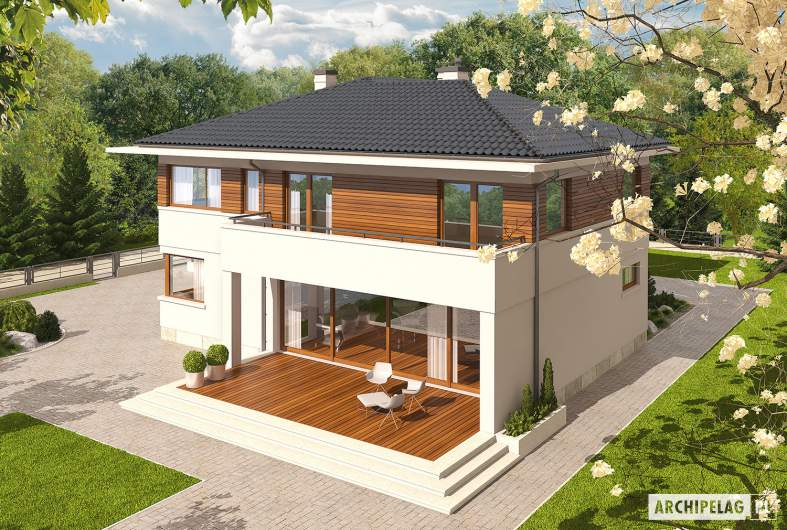 Projekt domu Nati G2 - widok z góry