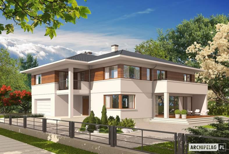 Projekt domu Nati G2 - wizualizacja frontowa