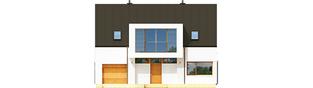 Projekt domu EX 9 G1 (wersja B) soft - elewacja frontowa