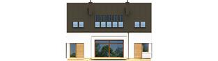 Projekt domu EX 9 G1 (wersja B) soft - elewacja tylna