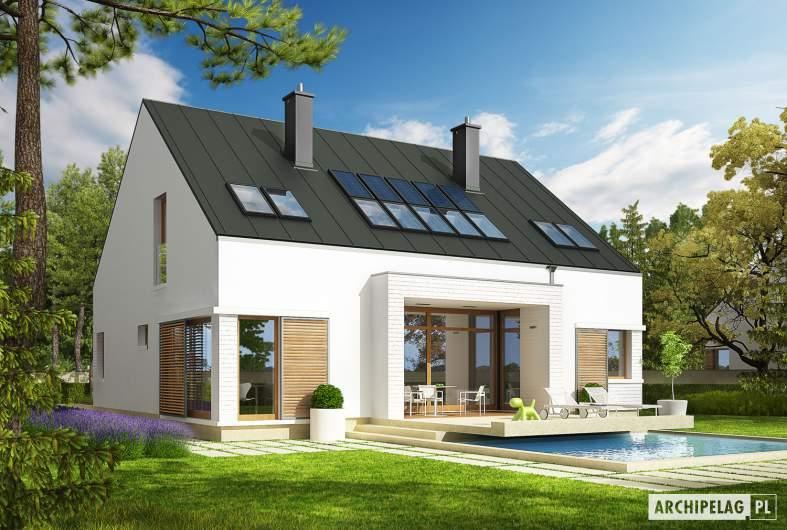 Projekt domu EX 9 G1 (wersja B) soft - wizualizacja ogrodowa