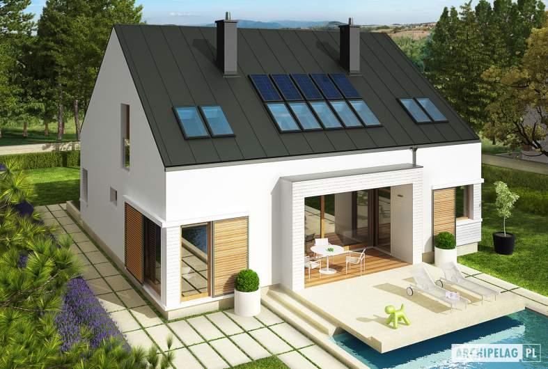 Projekt domu EX 9 G1 (wersja B) soft - widok z góry ogrodowa
