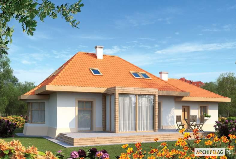 Projekt domu Celesta G2 - wizualizacja ogrodowa