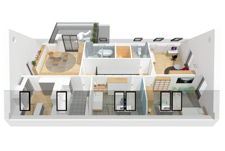 Projekt domu Teodor G2 (wersja A) - poddasze 3D