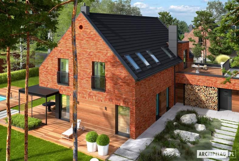 Projekt domu Teodor G2 (wersja A) - widok z góry