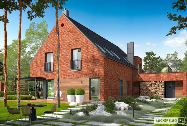 Projekt domu Teodor G2 (wersja A) - wizualizacja ogrodowa