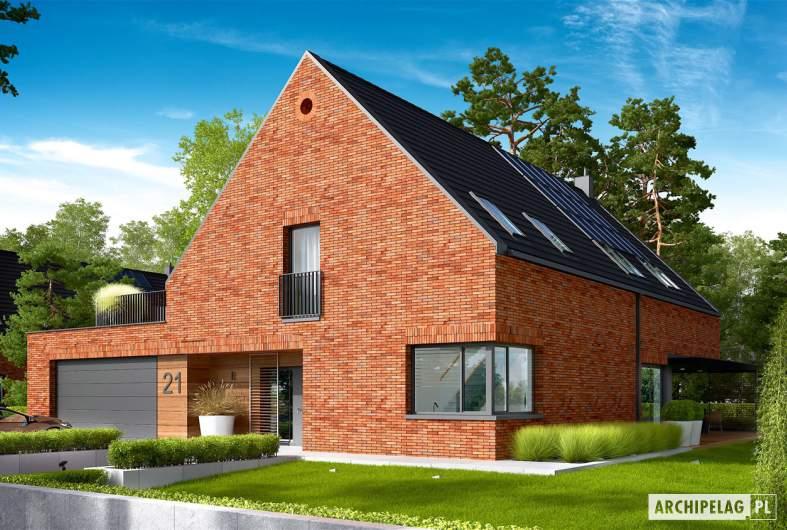 Projekt domu Teodor G2 (wersja A) - wizualizacja frontowa