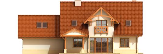 Kristopher G2 - Projekt domu Krzysiek G2 - elewacja tylna