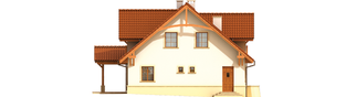 Projekt domu Krzysiek G2 - elewacja lewa