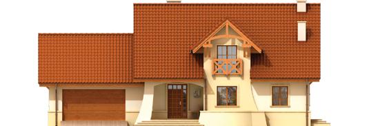 Kristopher G2 - Projekt domu Krzysiek G2 - elewacja frontowa