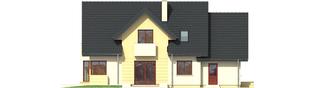 Projekt domu Andrzej II G1 - elewacja tylna