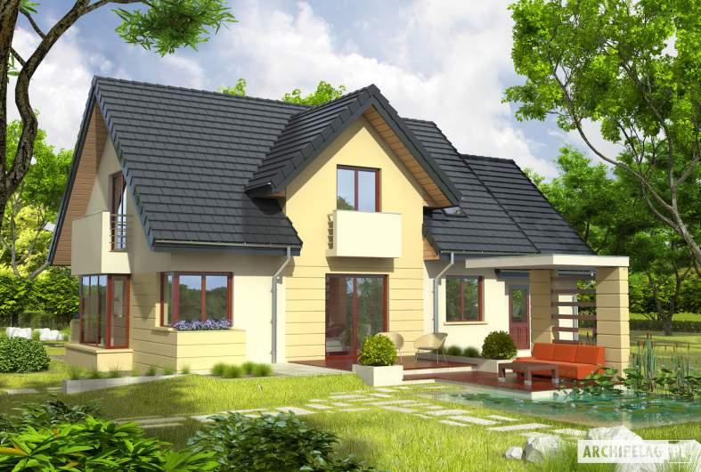 Projekt domu Andrzej II G1 - wizualizacja ogrodowa