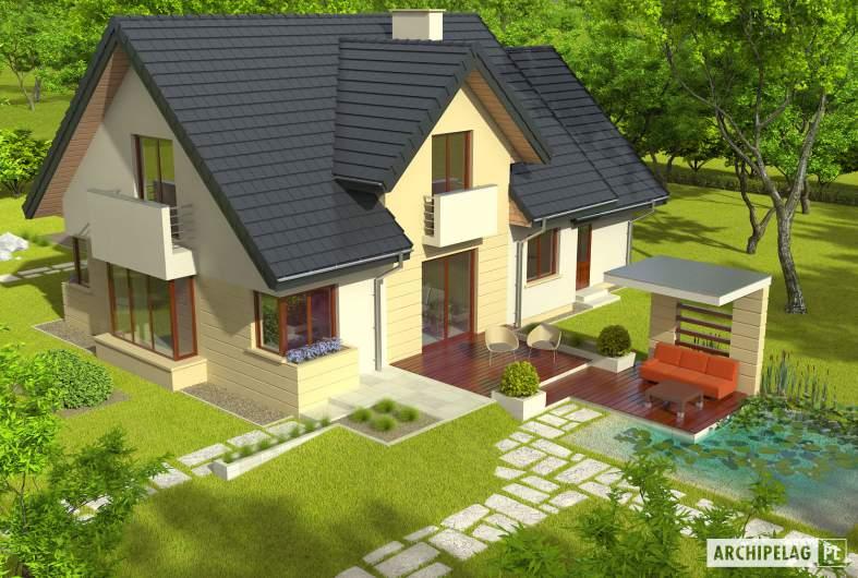 Projekt domu Andrzej II G1 - widok z góry