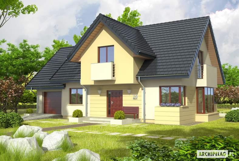Projekt domu Andrzej II G1 - wizualizacja frontowa