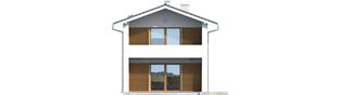 Projekt domu Mika - elewacja lewa