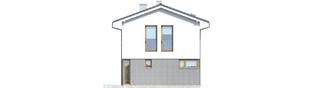 Projekt domu Mika - elewacja prawa