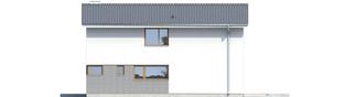 Projekt domu Mika - elewacja tylna