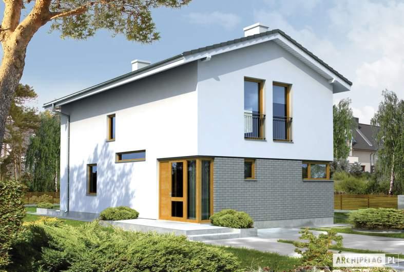 Projekt domu Mika - wizualizacja frontowa