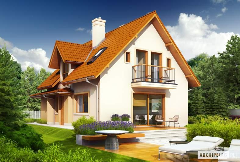 Projekt domu Julek II G1 Leca® DOM - wizualizacja ogrodowa