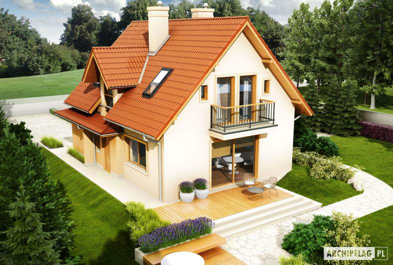 Projekt domu Julek II G1 Leca® DOM - widok z góry