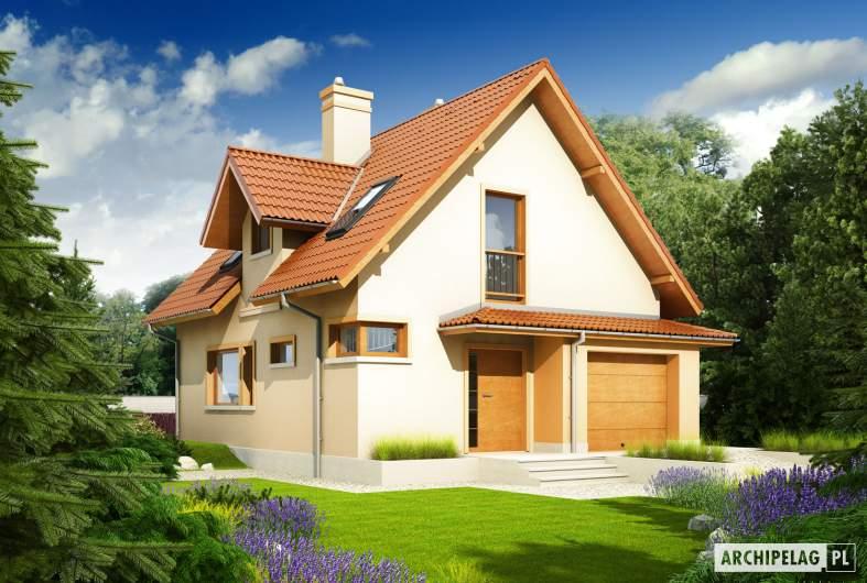 Projekt domu Julek II G1 Leca® DOM - wizualizacja frontowa