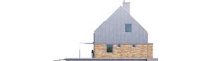 Projekt domu EX 16 ENERGO PLUS - elewacja lewa