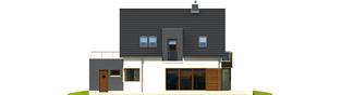 Projekt domu Mati G1 - elewacja tylna