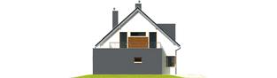 Projekt domu Mati G1 - elewacja prawa