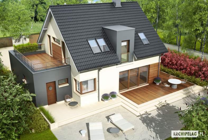 Projekt domu Mati G1 - widok z góry