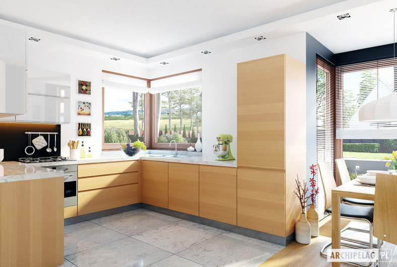 Projekt domu Mati G1 - wizualizacja kuchni