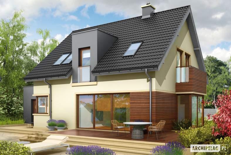 Projekt domu Mati G1 - wizualizacja ogrodowa