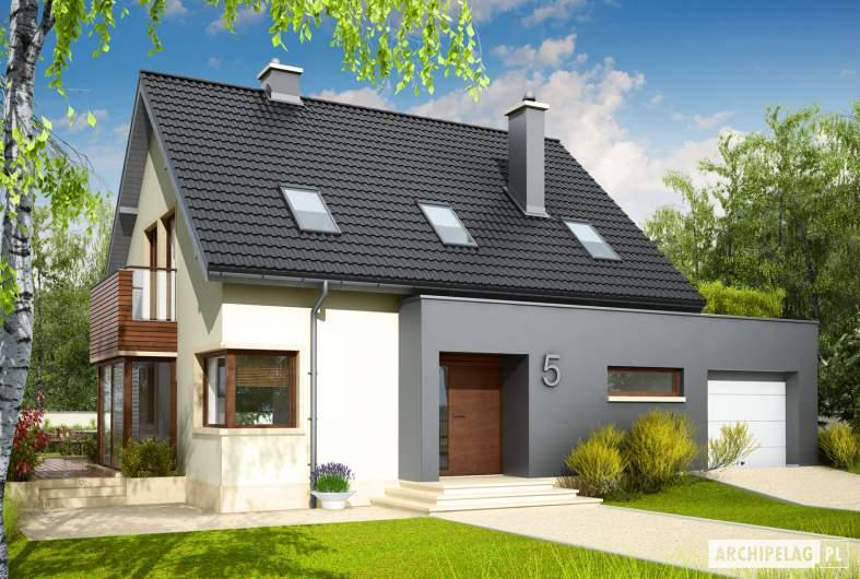 Projekt domu Mati G1 - wizualizacja frontowa