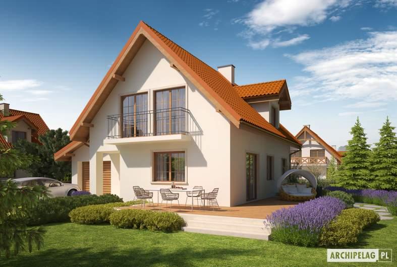 Projekt domu Remek G1 - wizualizacja frontowa prawa
