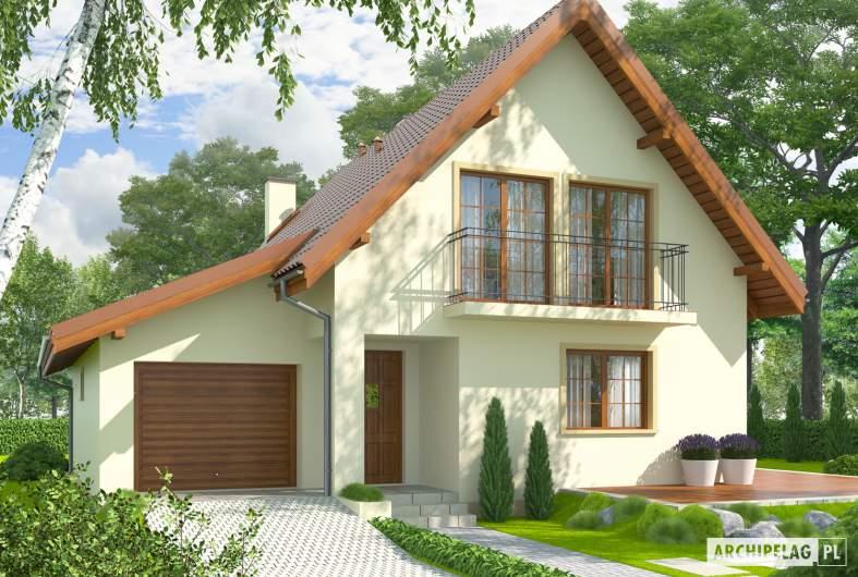 Projekt domu Remek G1 - wizualizacja frontowa
