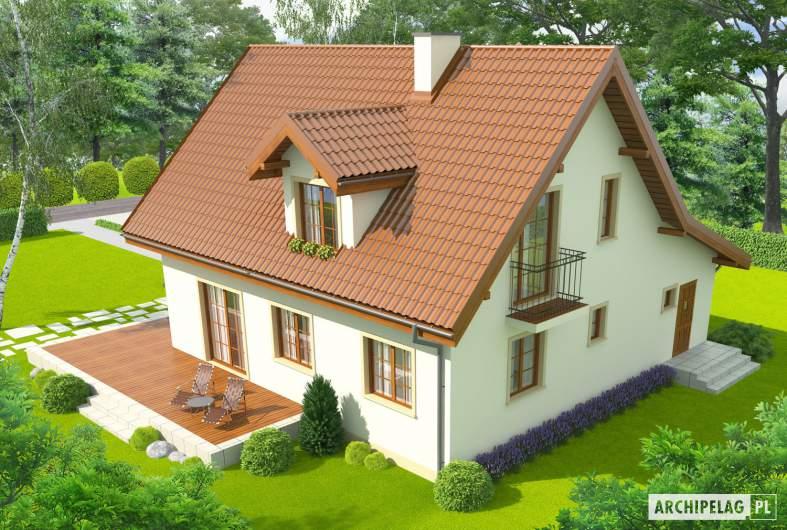 Projekt domu Remek G1 - widok z góry