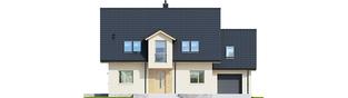 Projekt domu E5 G1 ECONOMIC (wersja C) - elewacja frontowa
