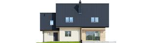 Projekt domu E5 G1 ECONOMIC (wersja C) - elewacja tylna