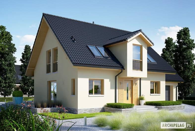 Projekt domu E5 G1 ECONOMIC (wersja C) - wizualizacja frontowa