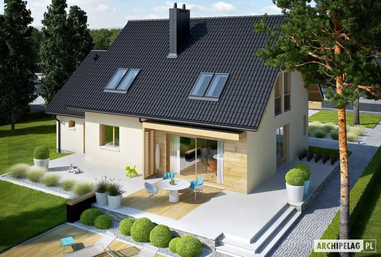 Projekt domu E5 G1 ECONOMIC (wersja C) - widok z góry