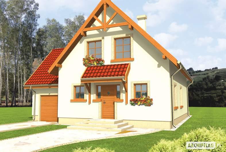 Projekt domu Salome G1 - wizualizacja frontowa