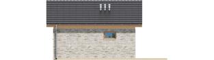 Projekt domu Garaż G22 - elewacja tylna
