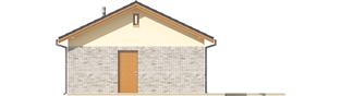 Projekt domu Garaż G22 - elewacja lewa