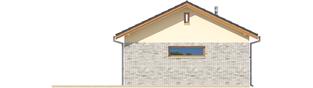 Projekt domu Garaż G22 - elewacja prawa