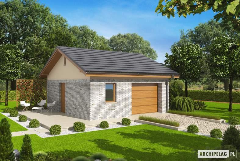 Projekt domu Garaż G22 -