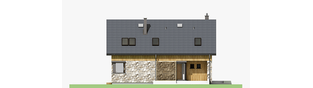 Projekt domu Nikolas - elewacja frontowa