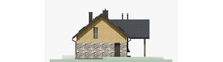 Projekt domu Nikolas - elewacja prawa